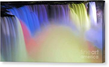 Abstract Falls Canvas Print by Kathleen Struckle
