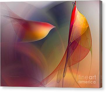 Abstract Fine Art Print Early In The Morning Canvas Print by Karin Kuhlmann