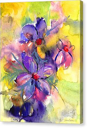 abstract Flower botanical watercolor painting print Canvas Print by Svetlana Novikova