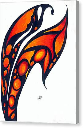 Abstract Flower Canvas Print by Shruti Bhagwat