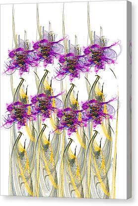 Abstract Flowers Canvas Print by Ester  Rogers