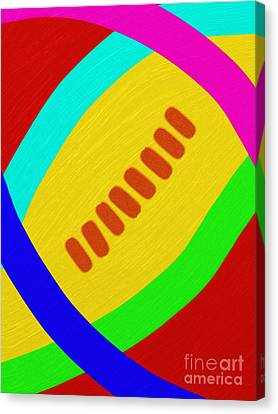 Abstract Football Canvas Print by Andee Design