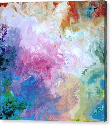Abstract Forms Encaustic Canvas Print by Lisa Kramer