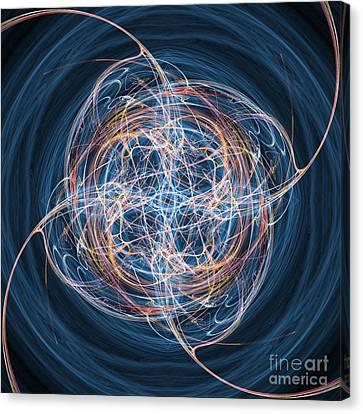 Abstract Fractal Background 08 Canvas Print by Antony McAulay