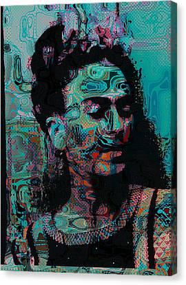 Abstract Frida Canvas Print by Bogdan Floridana Oana