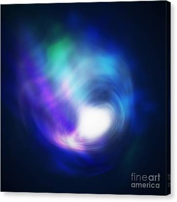 Abstract Galaxy Canvas Print by Atiketta Sangasaeng