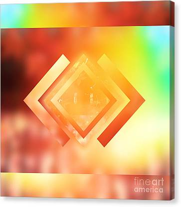 Abstract Geometric Gradient Colors Canvas Print by Beverly Claire Kaiya