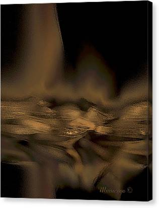 Abstract Golden Fireplace Canvas Print by Ines Garay-Colomba