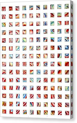 Abstract Grid Canvas Print by Richard Mountford
