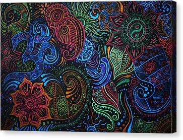 Abstract Henna Design Canvas Print by Cathryn Jenner