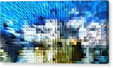 Abstract Illusion Elements Water #4 Canvas Print by Ginette Callaway