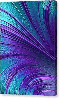 Abstract In Blue And Purple Canvas Print by John Edwards