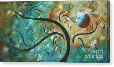 Abstract Landscape Painting Digital Texture Art By Megan Duncanson Canvas Print by Megan Duncanson