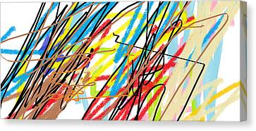 Abstract - Made By Matilde 4 Years Old Canvas Print by Giuseppe Epifani
