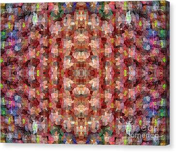 Abstract Mosaic In Red Rainbow Canvas Print by Beverly Claire Kaiya