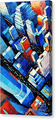 Abstract New York Sky View Canvas Print by Mona Edulesco