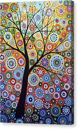 Abstract Original Tree Art Painting ... Sun Arising Canvas Print by Amy Giacomelli