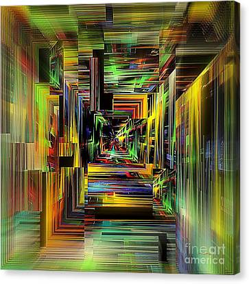 Abstract Perspective E3 Canvas Print by Greg Moores