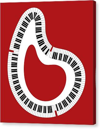 Abstract Piano Canvas Print by Frank Tschakert