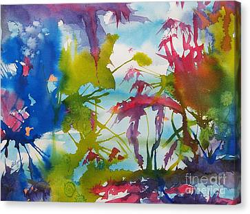 Abstract -  Primordial Life Canvas Print by Ellen Levinson