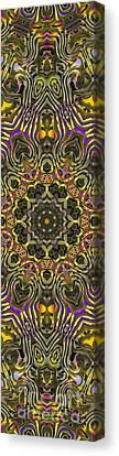 Abstract Rhythm - 27 Canvas Print by Hanza Turgul