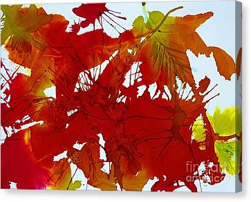 Abstract - Riot Of Fall Color - Autumn Canvas Print by Ellen Levinson