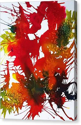 Abstract - Riot Of Fall Color II - Autumn Canvas Print by Ellen Levinson