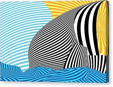 Abstract - Sailing Canvas Print by Mike Savad