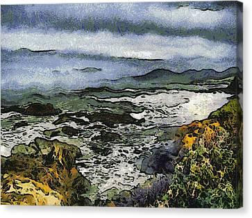 Abstract Seascape Morro Bay California Canvas Print by Barbara Snyder