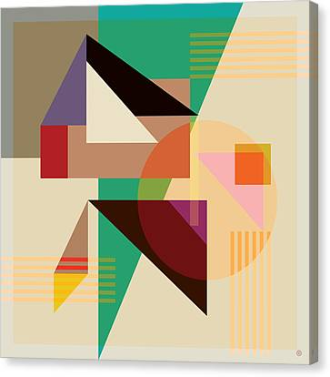 Abstract Shapes #4 Canvas Print by Gary Grayson