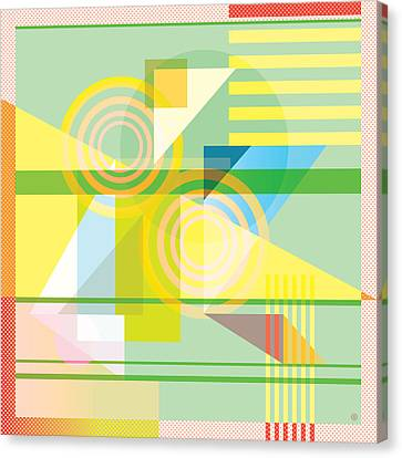 Abstract Shapes #5 Canvas Print by Gary Grayson