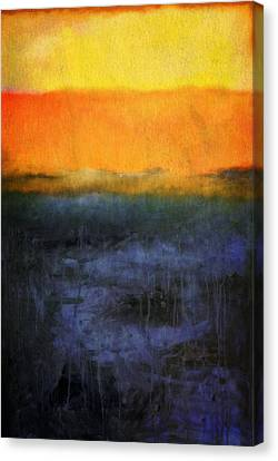 Abstract Shoreline 4.0 Canvas Print by Michelle Calkins