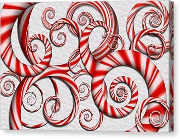 Abstract - Spirals - Peppermint Dreams Canvas Print by Mike Savad