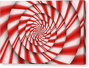 Abstract - Spirals - The Power Of Mint Canvas Print by Mike Savad