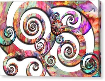 Abstract - Spirals - Wonderland Canvas Print by Mike Savad