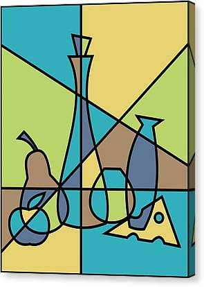 Abstract Still Life Canvas Print by Donna Mibus