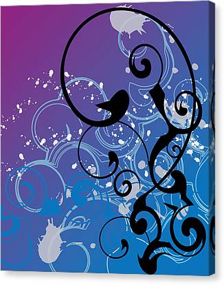 Abstract Swirl Canvas Print by Mellisa Ward