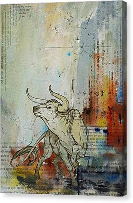 Abstract Tarot Art 017 Canvas Print by Corporate Art Task Force