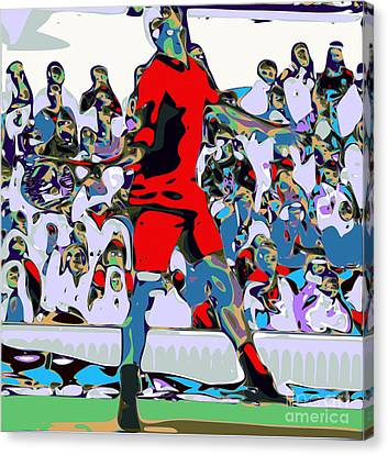 Abstract Tennis Canvas Print by Chris Butler