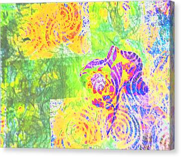 Abstract The Colors Of Time And Place Canvas Print by Regina Kyle