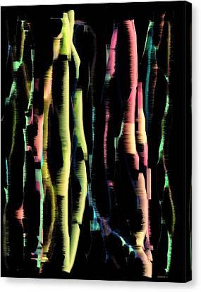 Abstract Vertical Designs Canvas Print by Mario Perez