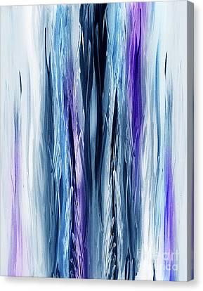 Abstract Waterfall Purple Flow Canvas Print by Irina Sztukowski