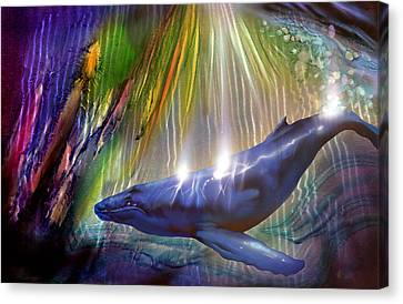 Abstract Whale Canvas Print by Luis  Navarro
