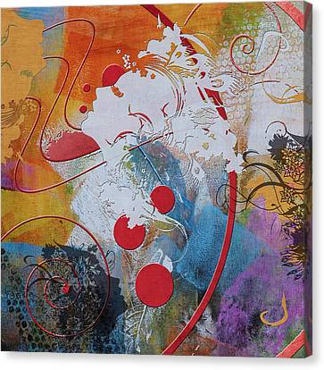 Abstract Women 012 Canvas Print by Corporate Art Task Force