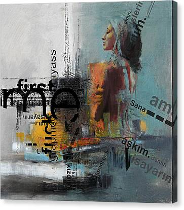 Abstract Women 013 Canvas Print by Corporate Art Task Force