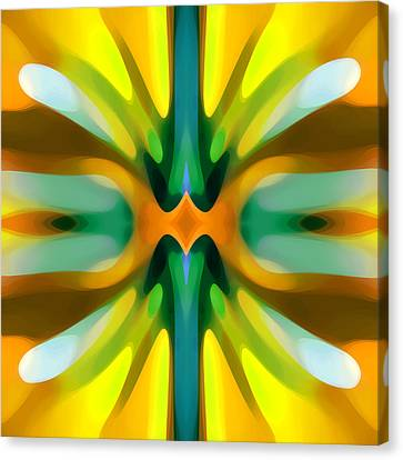 Abstract Yellowtree Symmetry Canvas Print by Amy Vangsgard
