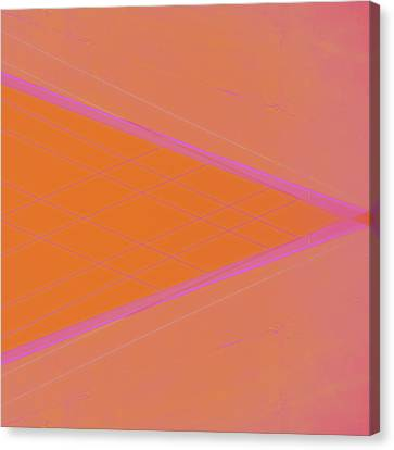 Abstraction In Pink Number 3 Canvas Print by Carol Leigh