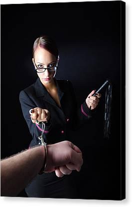 Abusive Boss Canvas Print by Marc Serghei Alexandru Faur