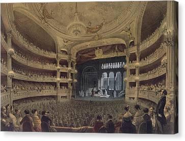 Academie Imperiale De Musique Paris Canvas Print by Louis Jules Arnout