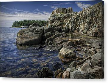 Acadia National Park Shoreline Rock Formations Canvas Print by Randall Nyhof